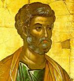 Св. ап. Петър - икона от иконостаса на Stavronikita Monastery в Св. Гора, www.culture.gr