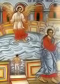 """Витезда. Стенопис от Рилския манастир """"Св. Иван Рилски"""""""
