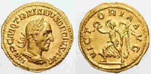 Монета с обрзаз на имп. Деций Декий Траян (Trajanus Decius). Източник: drevo-info.ru