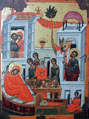 Рождество на св. Богородица, икона от  църквата