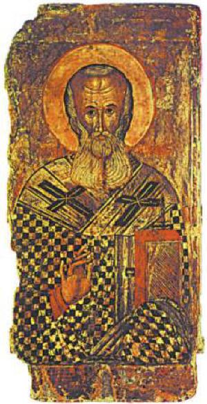 Св. Атанасий Велики - българска икона от XVI-XVII в. от Пловдивско