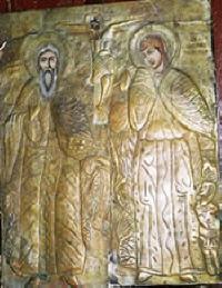 Св.пророк Илия и св. Марина, стенопис от гр. Малко Търново