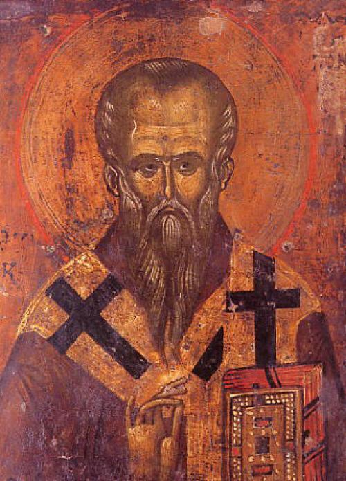 Св. Климент Охридски. Икона от ХІІІ–ХV в. от църква по българското Черноморие. Днес в НЦИАМ
