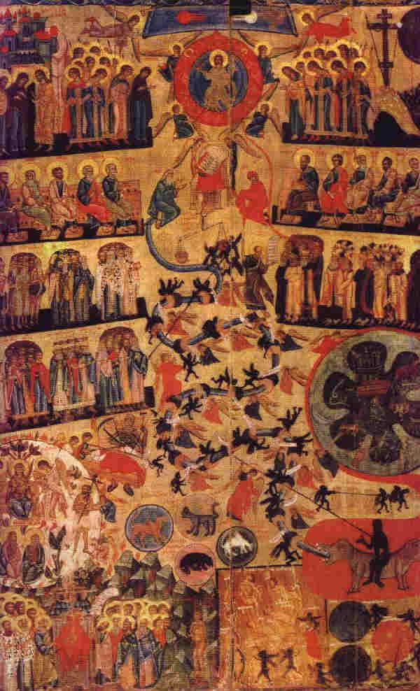 Страшният съд, руска икона от XVI век. Източник: christusrex.org.