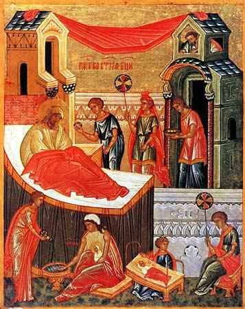 Рождество Богородично, руска икона.