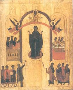 Покров Богородичен, руска икона
