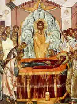 Успение на Пресвета Богородица - гръцка икона