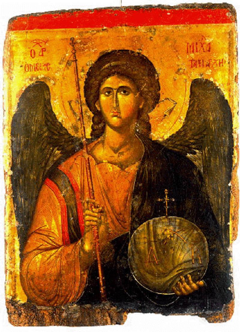 Св. архангел Михаил, икона от Константинопол, 14 в. Източник: www.culture.gr