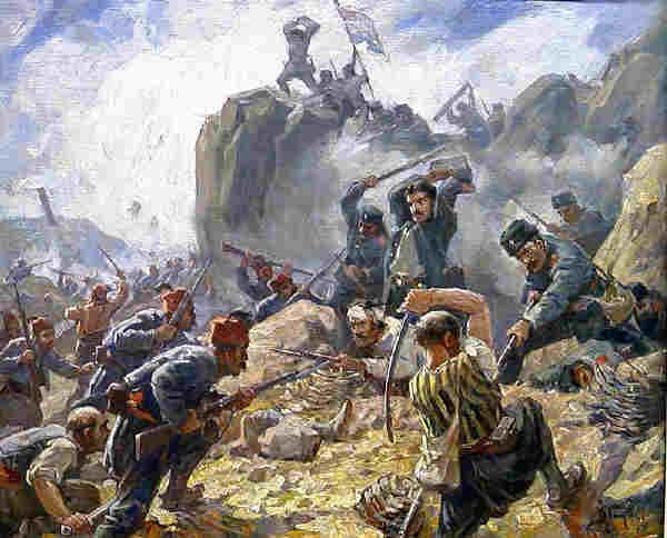 """Бой за Шипка"""", худ. Димитър Гюдженов"""