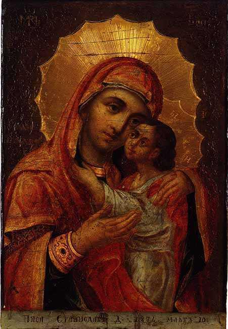 Св богородица с младенеца елеуса