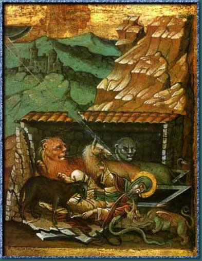 Св. Антоний в борба с бесовете. Източник: monasterypress.com.