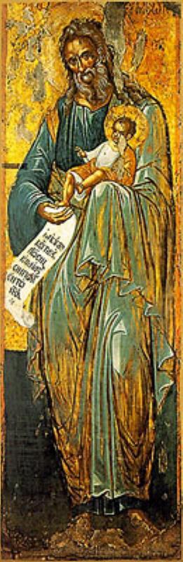 Праведни Симеон, икона от о. Крит, 16 в.