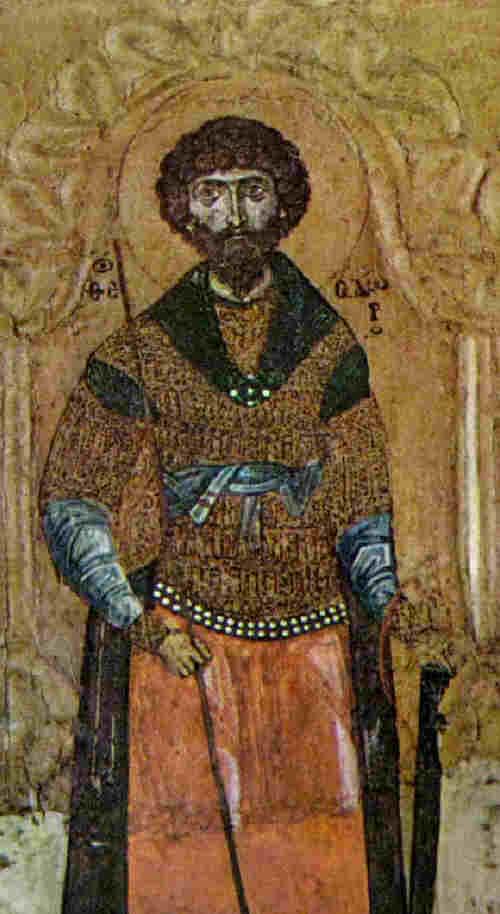 Св. Теодор Тирон. Икона от 11-12 в. Днес в Московския Ермитаж