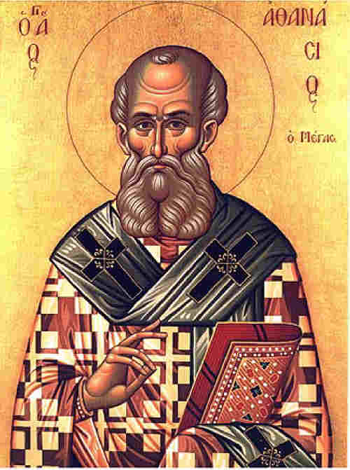 Св. Атанасий Велики Александрийски епископ. Гръцка икона