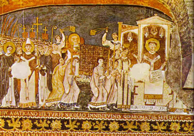 Св. Кирил и Методий. Фреска от катедралата Сан Клементе