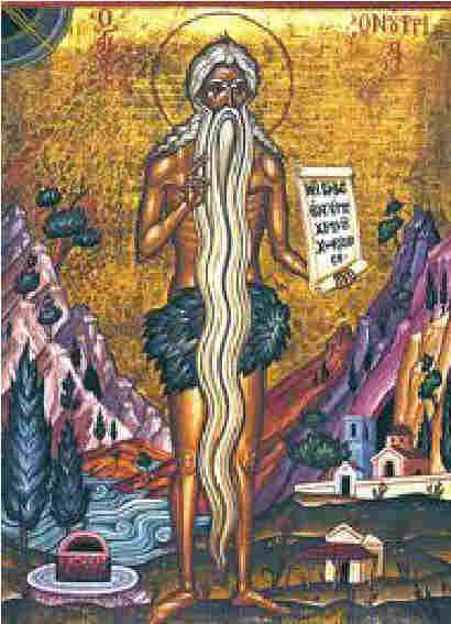 Св. Онуфрий Велики, руска икона