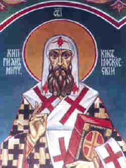Св. Киприан Българин, стенопис от църквата