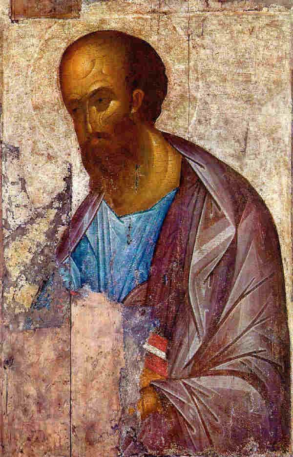 Св. Апостол Павел. Икона от Андрей Рубльов