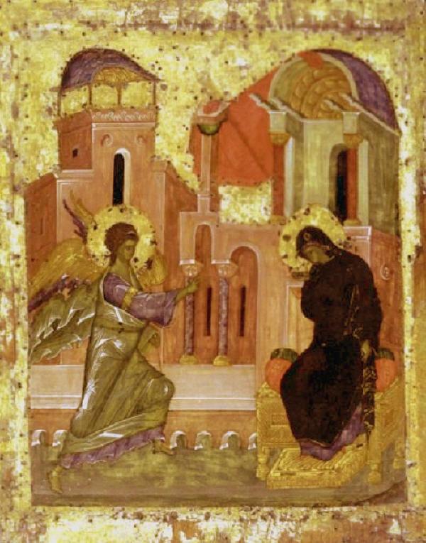 Свето Благовещение. Annunciation. Икона от св. Андрей Рубльов