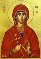 Св. Марина, гръцка икона.