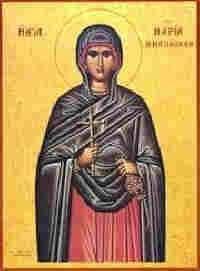 Св. Мария Магдалина, гръцка икона.