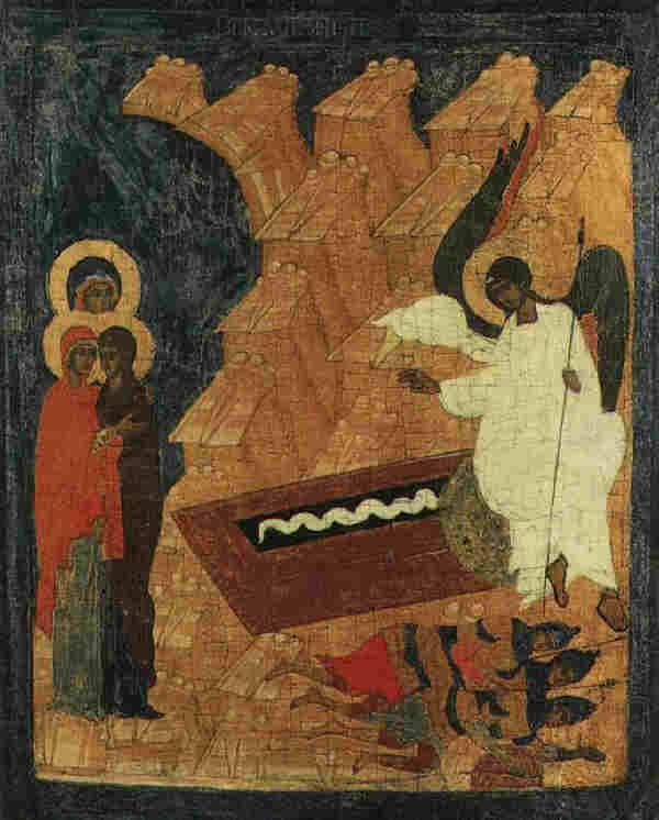 Св. жени-мироносици на гроба на Христа