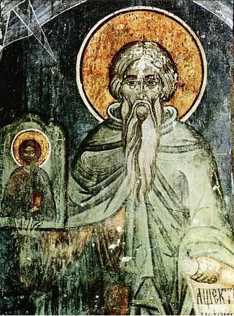 Св. Теофан Изповедник, румънска икона от 16 в. Източник: days.ru