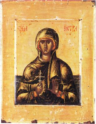 Св. Параскева Петка Търновска, икона от 16 в., Балканския полуостров.