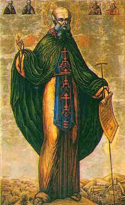 Св. Сава Освещени. Икона. Източник: pravoslavie.ru
