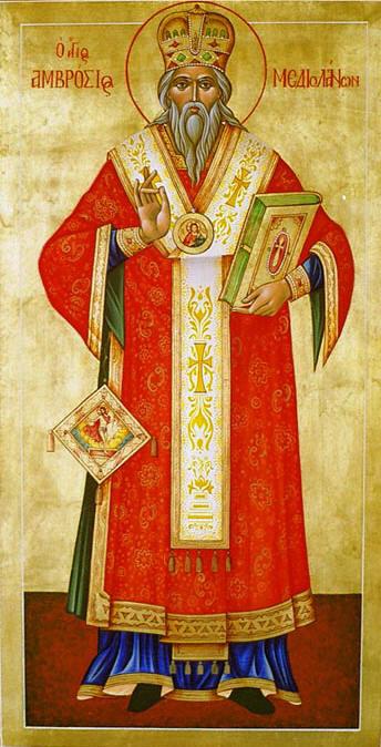Резултат с изображение за Св.  Амвросий Медиолански