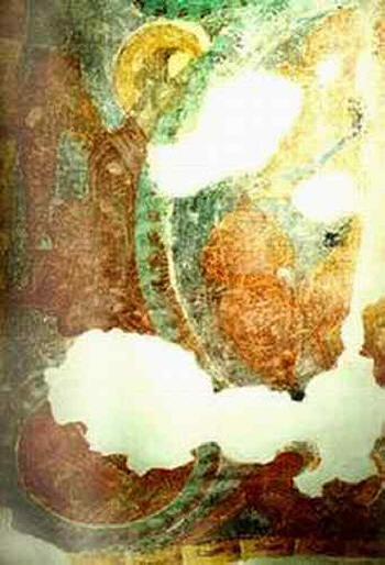 Аладжа манастир - фрагмен от стенописа на тавана на параклиса