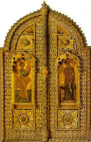 Bema doors from the Chelandari Monastery at Mount Athos