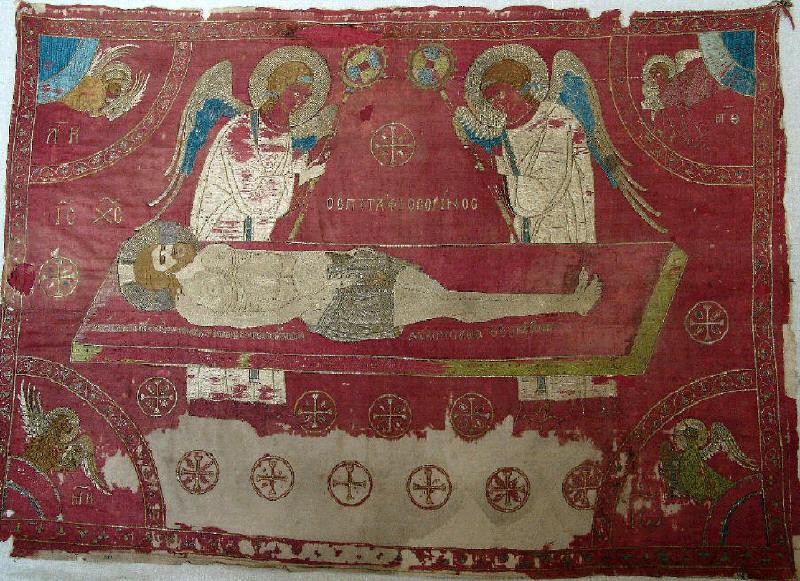 Плащаница от Бачковския манастир, началото на ХV в. Източник: НИМ, historymuseum.org