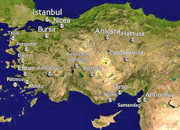 Турция с областта кападокия
