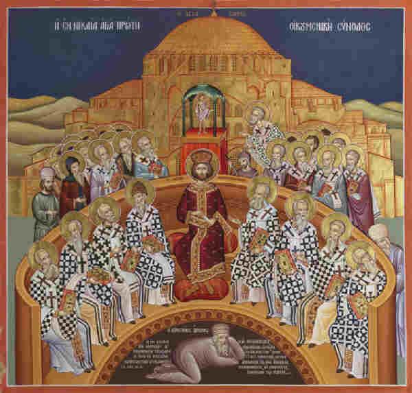Резултат с изображение за Шестия Вселенски събор в Константинопол,