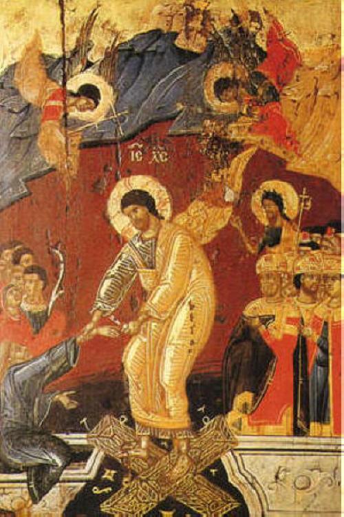 Възкресение Христово. Икона от 16 в. от манастира Дечани в Сърбия