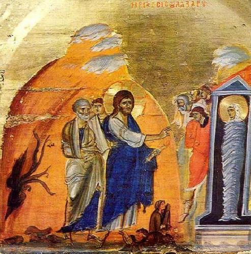 """Възкресението на Лазаря, манастирът """"Св. Екатерина"""" в Синай"""