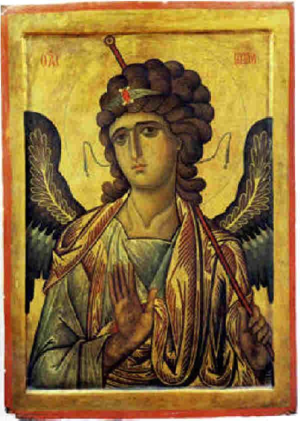 "Архангел Гавриил, икона от 13 в., манастира ""Св. Катерина"" в Синай"